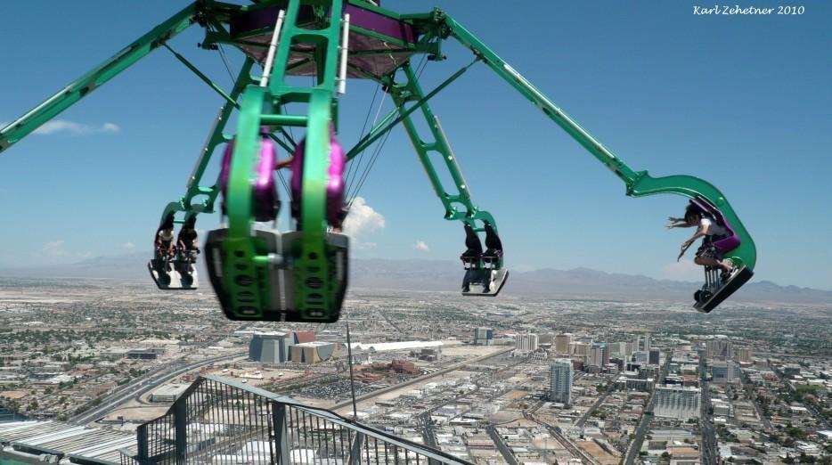 54. Безумие на отеле Stratosphere в Лас-Вегасе, США. «Безумие» — это название аттракциона, который в