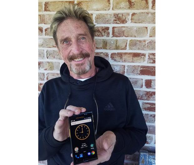 Джон Макафи представил прототип самого защищенного вмире телефона