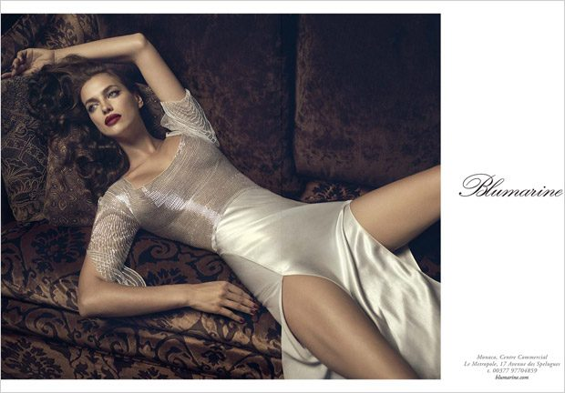 Irina Shayk is the face of Blumarine Fall Winter 2017.18