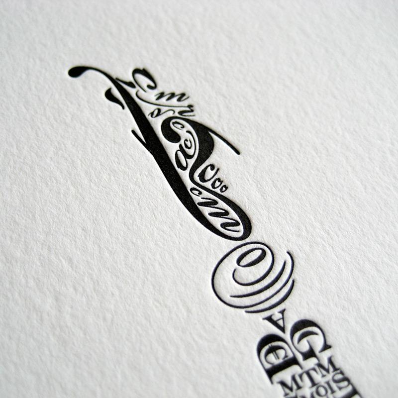 Letterpress detail from Salt Lake Designer Cameron Moll recently announced a new Kickstarter for a l