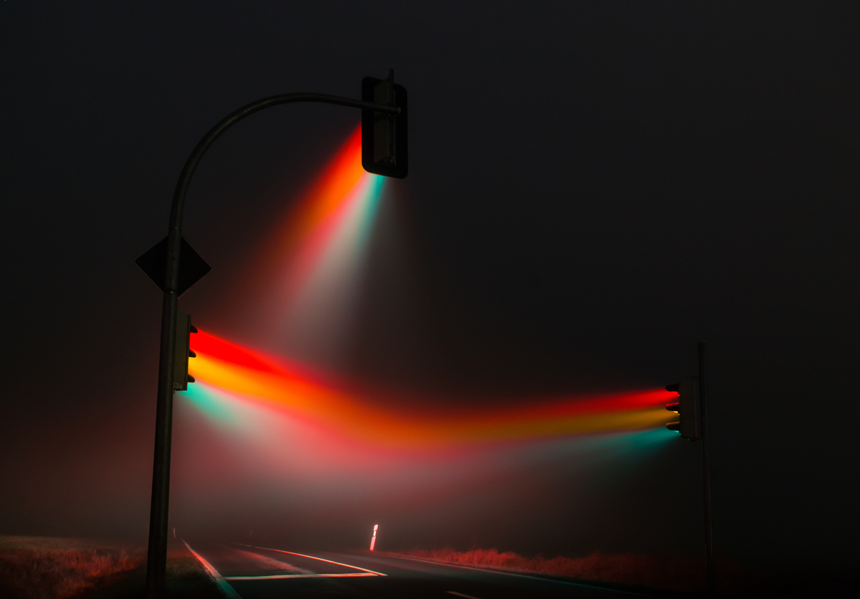 Misty Traffic Lights in Germany Photographed by Lucas Zimmermann (5 pics)