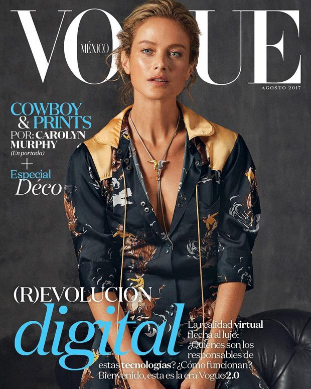 Carolyn Murphy is the Cover Star of Vogue Mexico August 2017 Issue (8 pics)