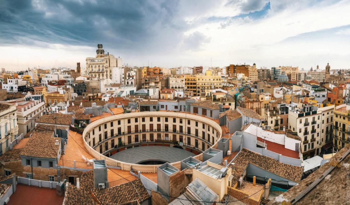 Валенсия, Вид наСтарый Город с колокольни церкви Святой Екатерины