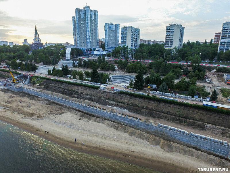 Реконструкция 4-ой очереди набережной. Август 2017