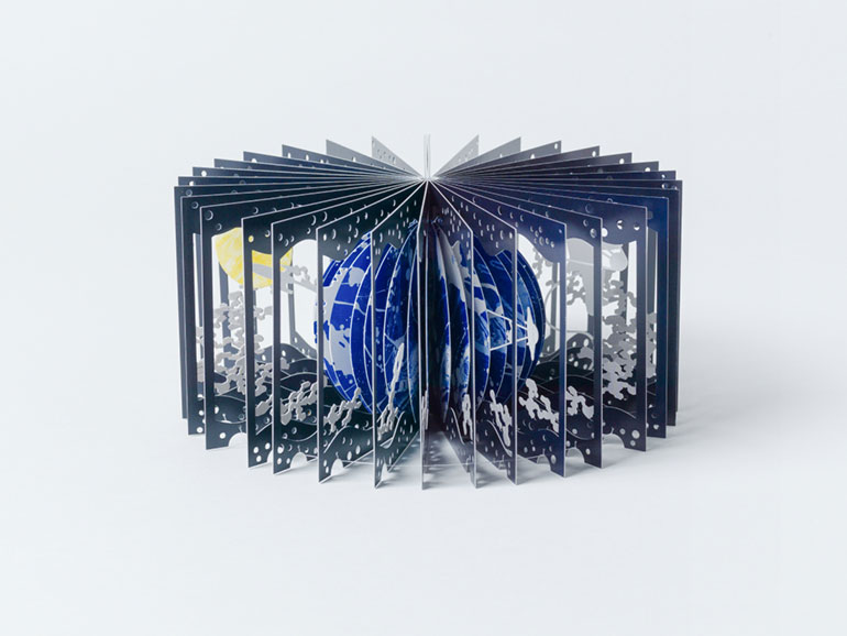 360° Earth and Moon Book by Yusuke Oono (6 pics)