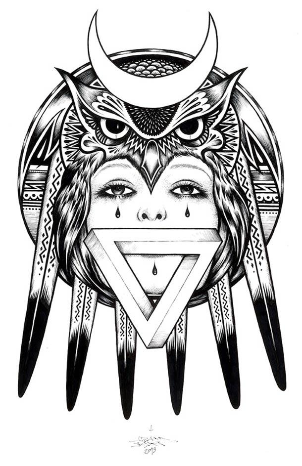 Tatouages et Jolies Filles - 21 superbes illustrations par Adam Isaac Jackson