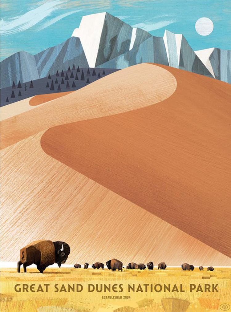 Retro National Park Posters Celebrate Diversity of America's Parks