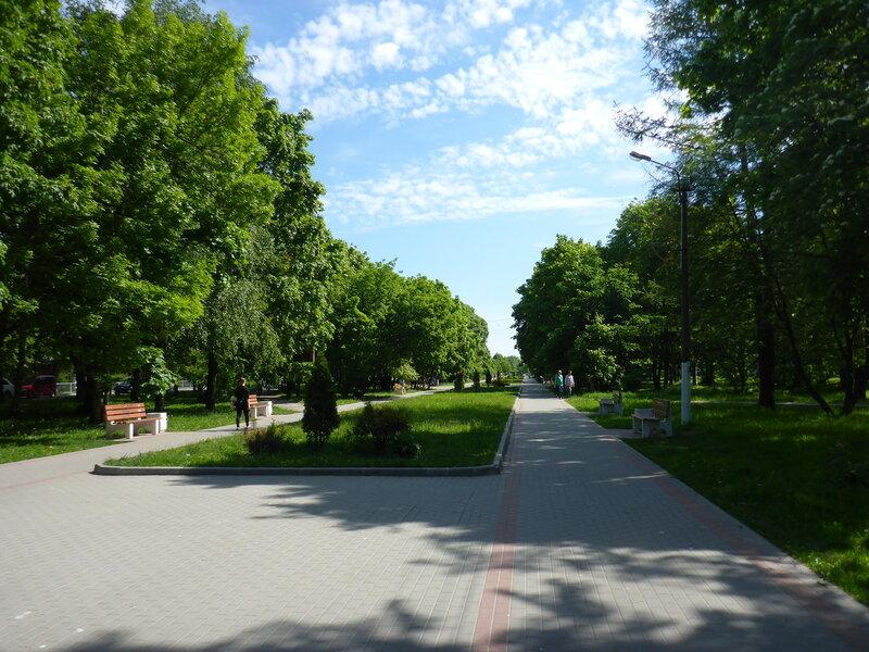пешеходный бульвар в Приозерске
