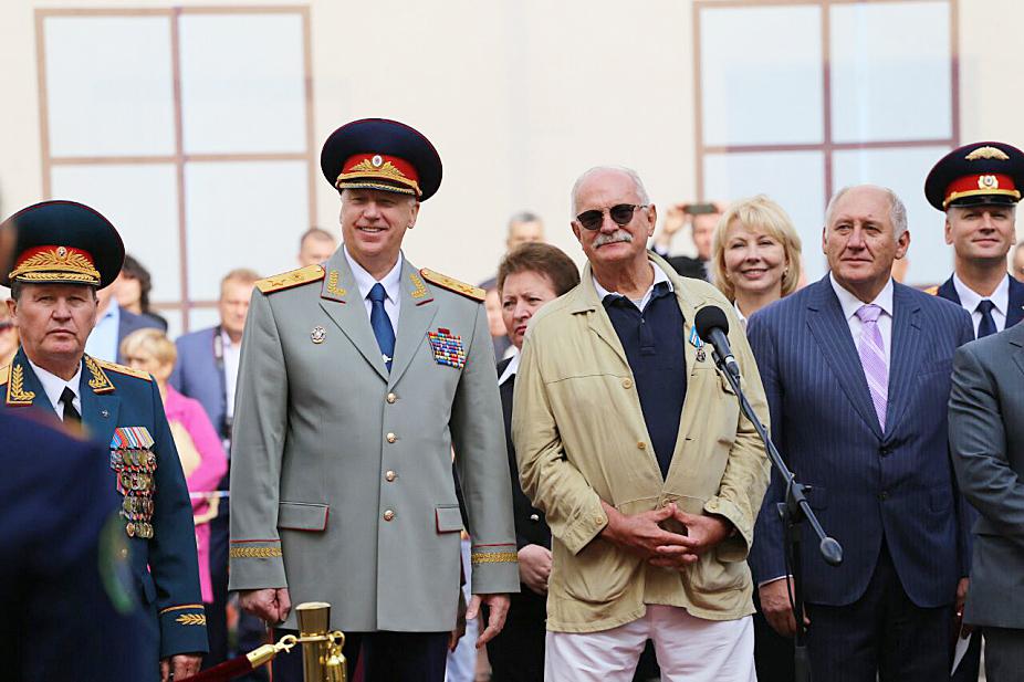 Никита Михалков в Петербургской Академии СКР резкий