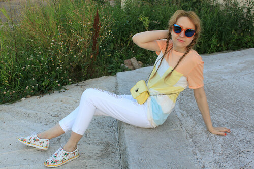 белые джинсы - Pull&Bear
