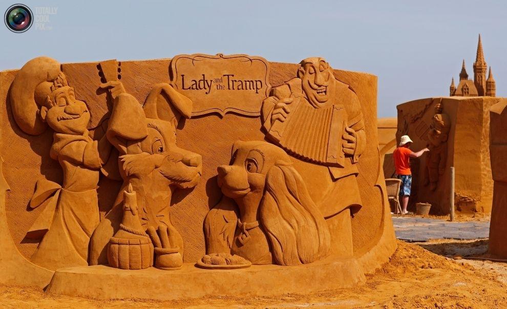 Фестиваль песчаных скульптур в Бельгии