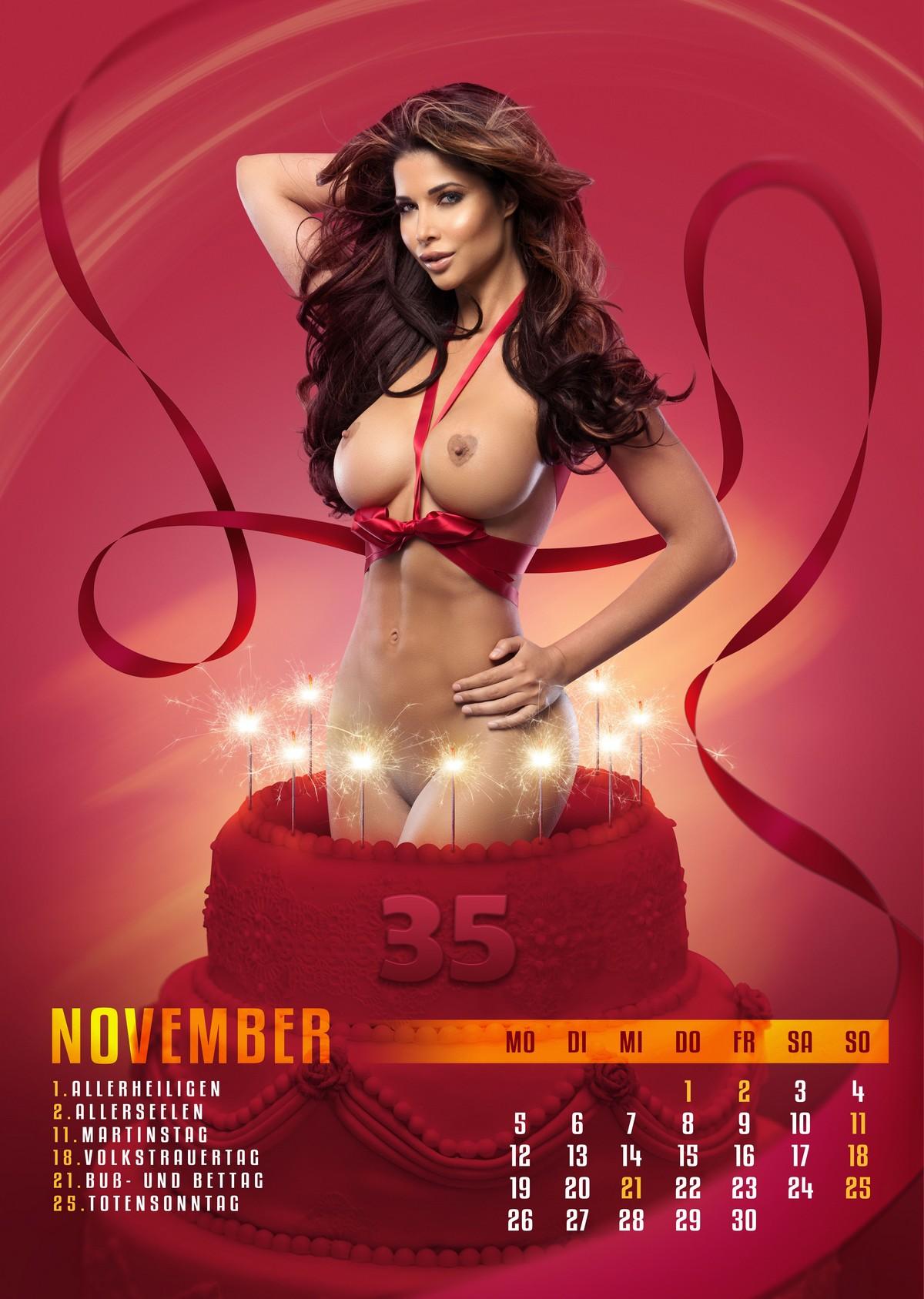 Микаэла Шефер разделась для календаря