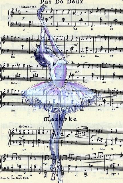 Открытки. День музыки. Музыка в танце