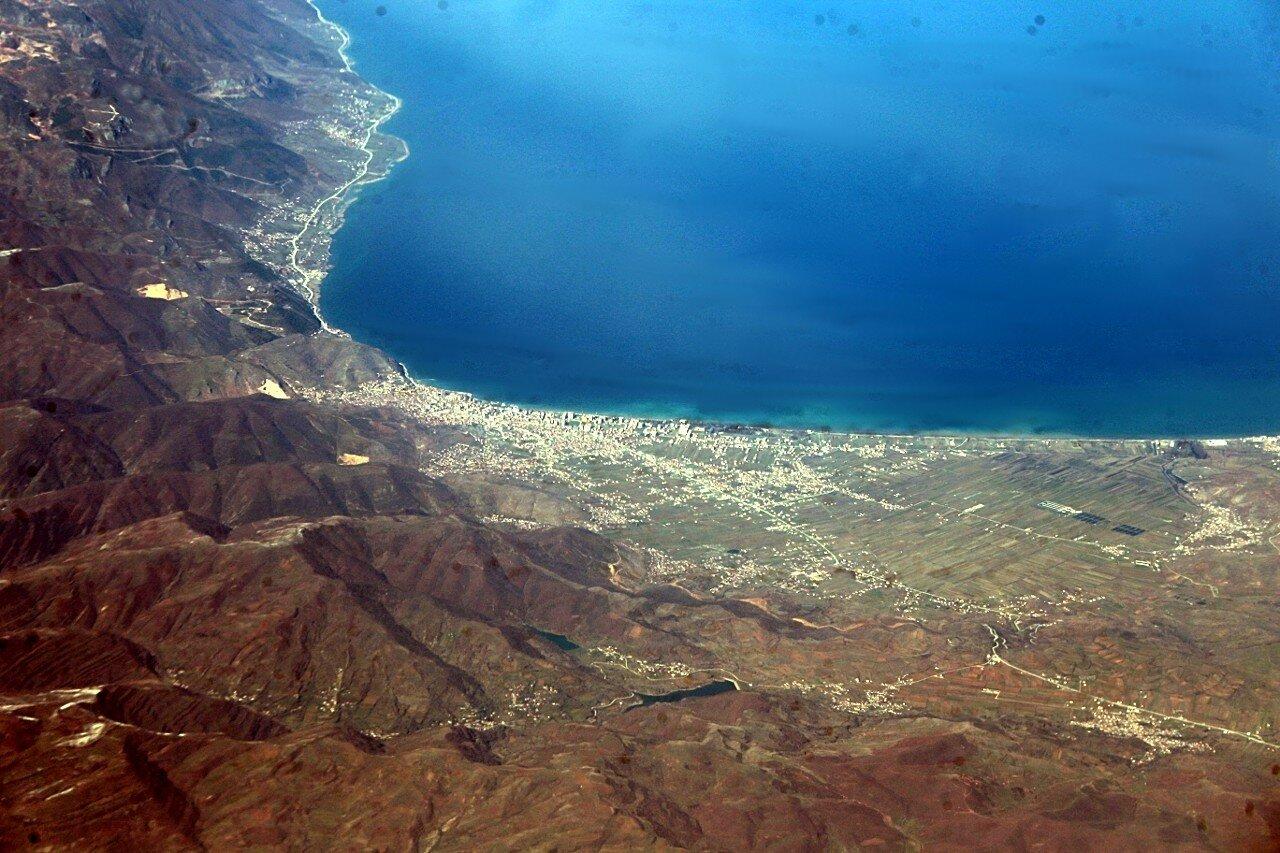 Озеро Преспан, вид с самолёта