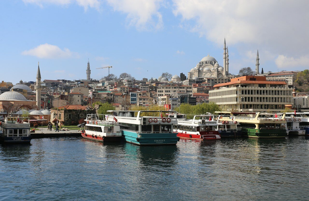 Istanbul. The shores of the Golden horn Bay.