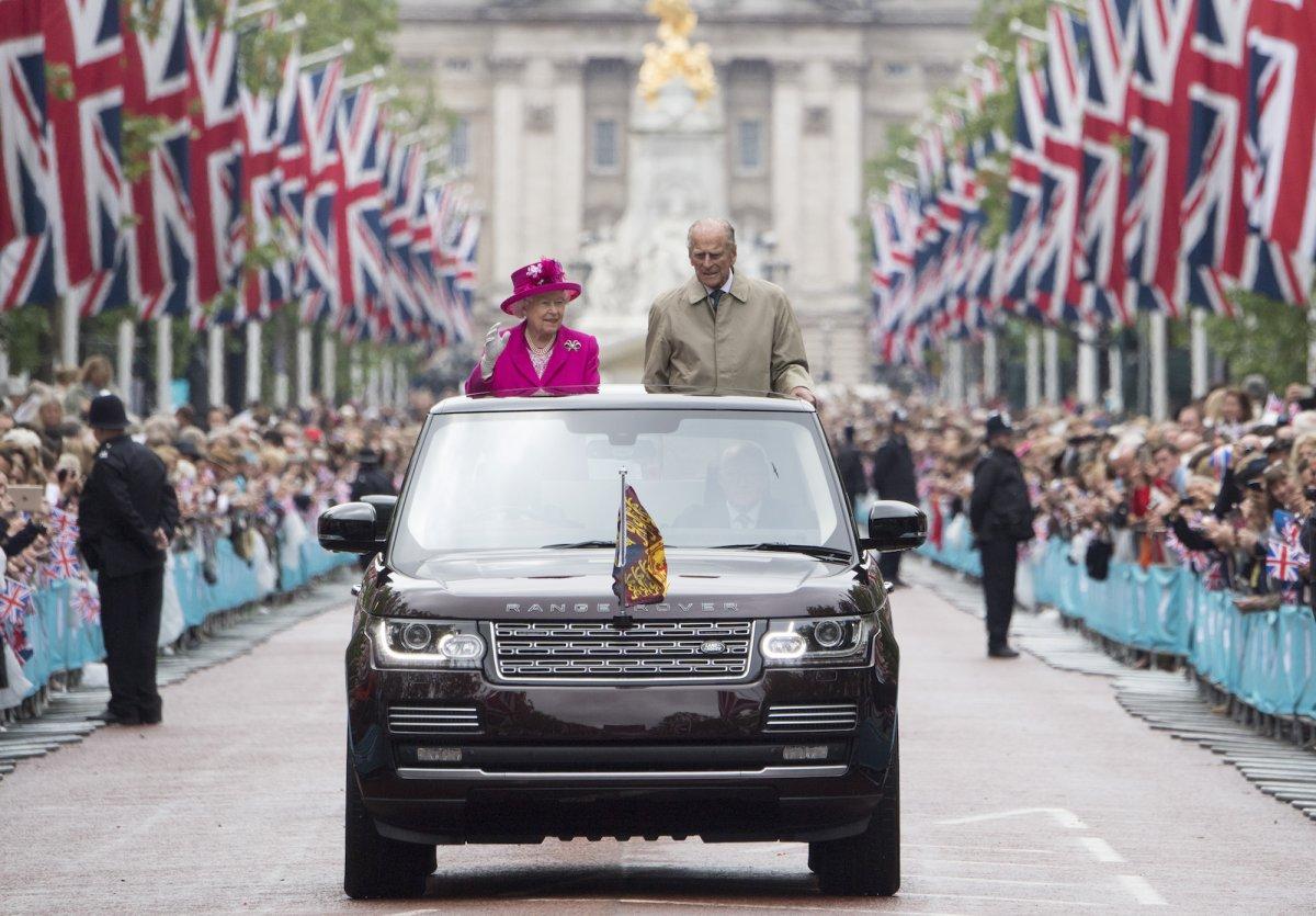На праздновании 90-летнего юбилея королевы.