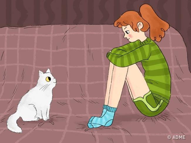 Коты похожи намужчин. Если кот несводит свас глаз— это настоящая любовь!  Небоится показать
