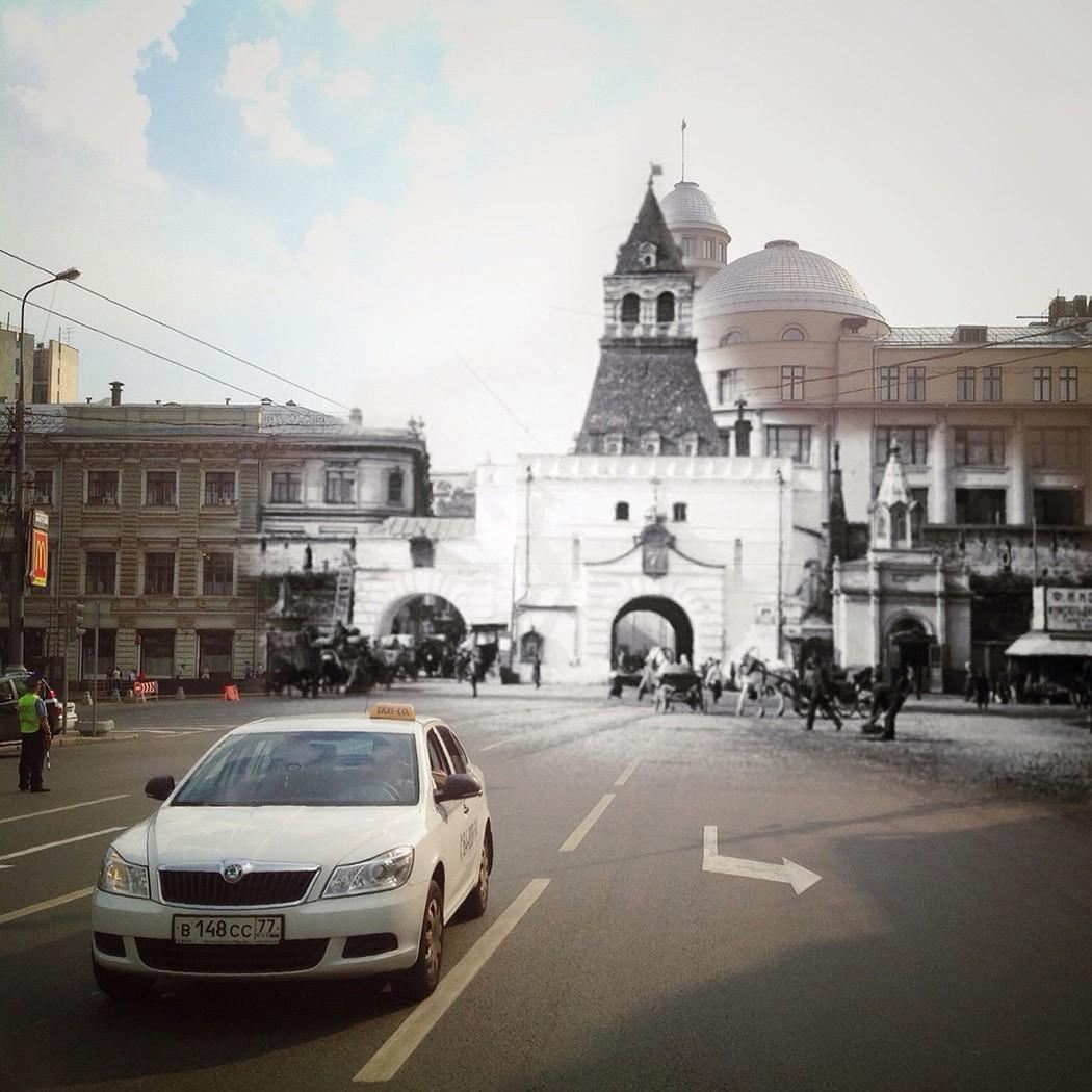 8. Ильинские ворота. Продолжаю виртуальное путешествие по Китайгородской стене. Кстати, в конце 16 в