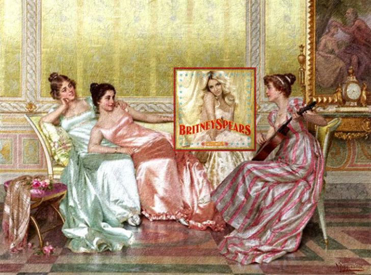 Обложка альбома Бритни Спирс Circus и картина Витторио Реджианини «Вечер».