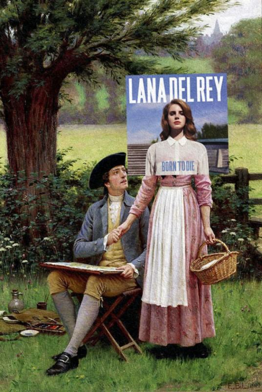 Обложка альбома Ланы Дель Рей Born to Die и картина Эдмунда Лейтона «Лорд Берли». Обложка альбома Бе