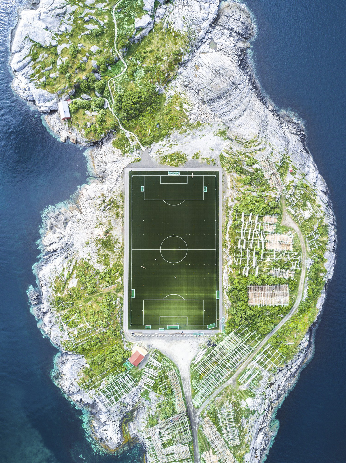 Cities, 3rd place. Photo and caption by Misha De-Stroyev . Henningsv?r Football Field . This footbal