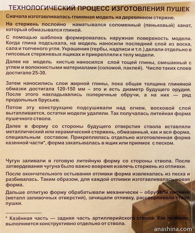 Технологический процесс изготовления пушек, Музей промышленной истории Петрозаводска