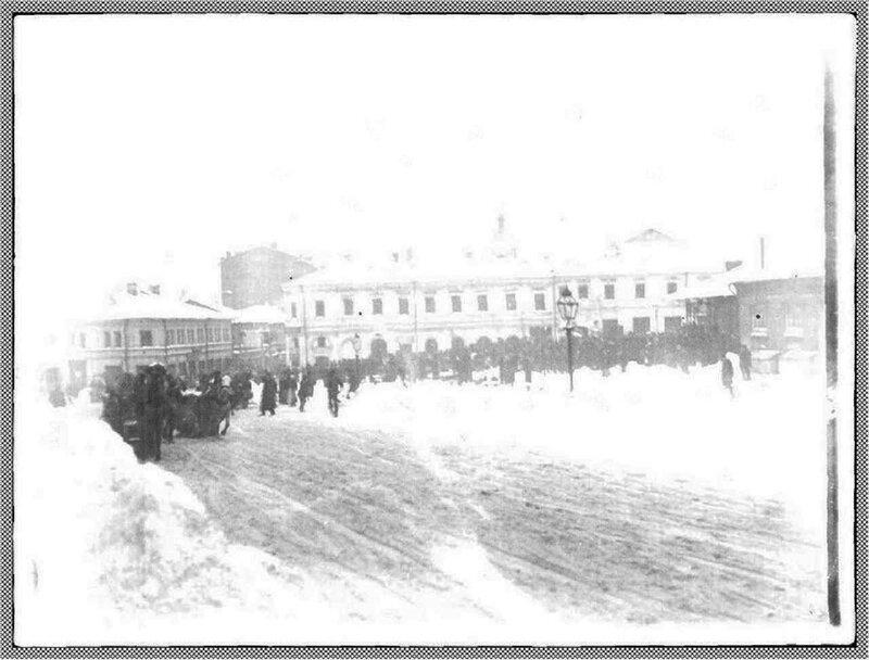 Хитровская площадь зимой. 1900-е гг