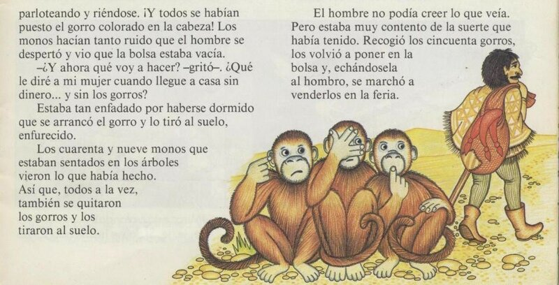 """Испанский язык для детей и взрослых. Слушаем сказку и следим по тексту: """"Цветные колпаки"""" - """"Los gorros colorados"""""""