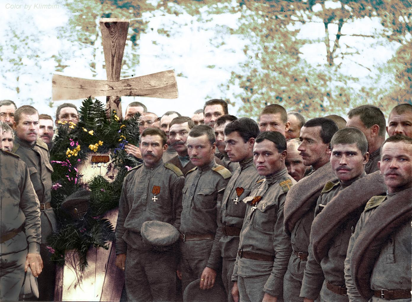 Похороны русского солдата, 1916