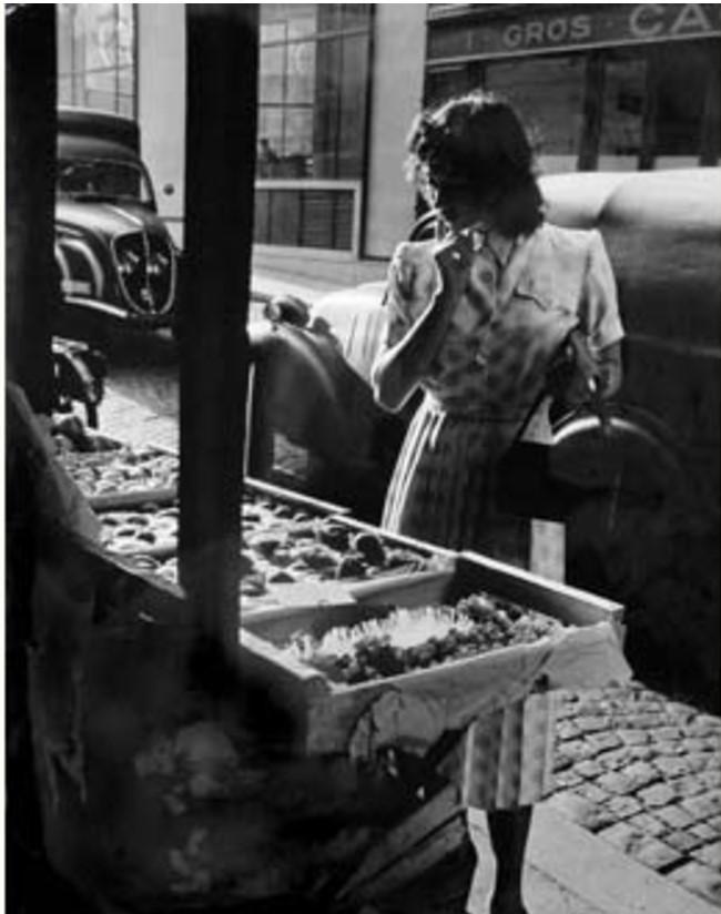 1949. Красивая девушка. Париж