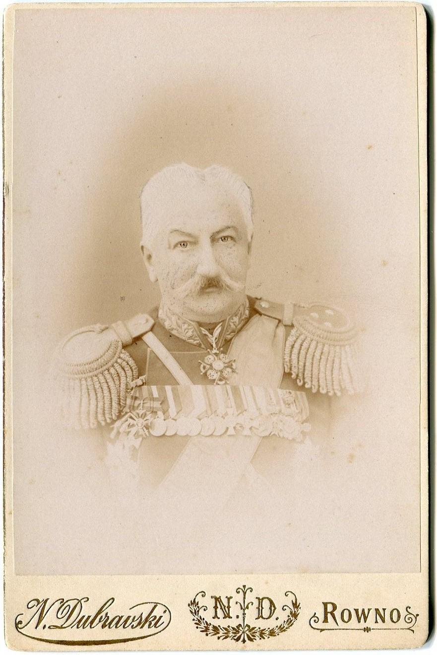 1902. Фотография генерал-майора К.П.Прежбяно. Флигель-адъютант. Генерал от артиллерии.