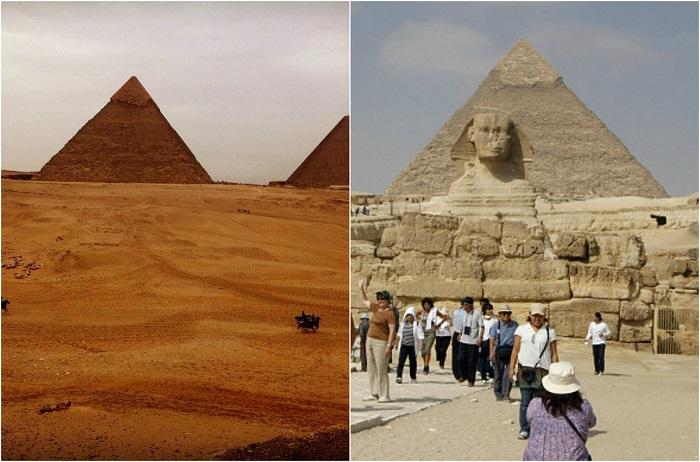 Крупнейшая из египетских пирамид, единственное из «Семи чудес света», сохранившееся до наших дней. <