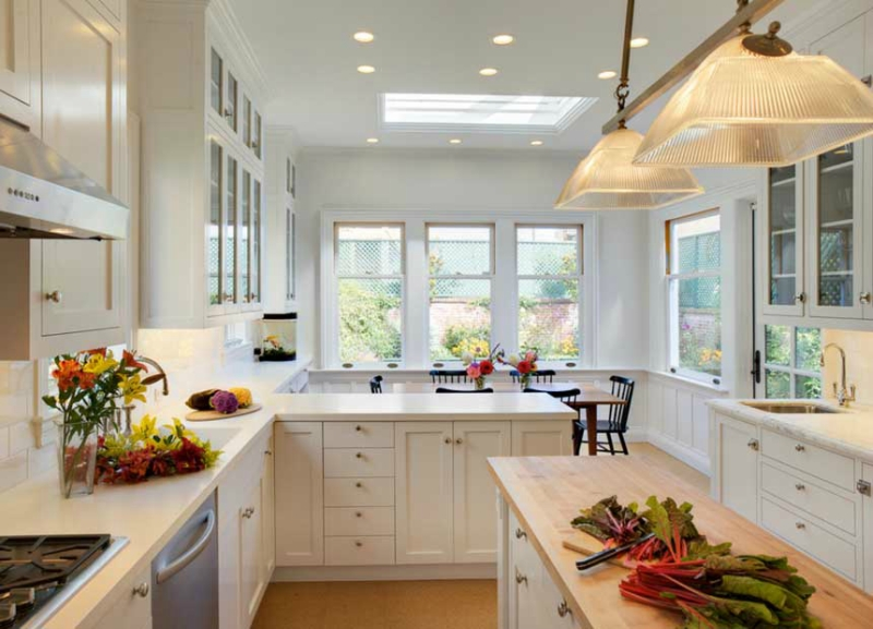 Белый цвет в интерьере кухни, фото 19
