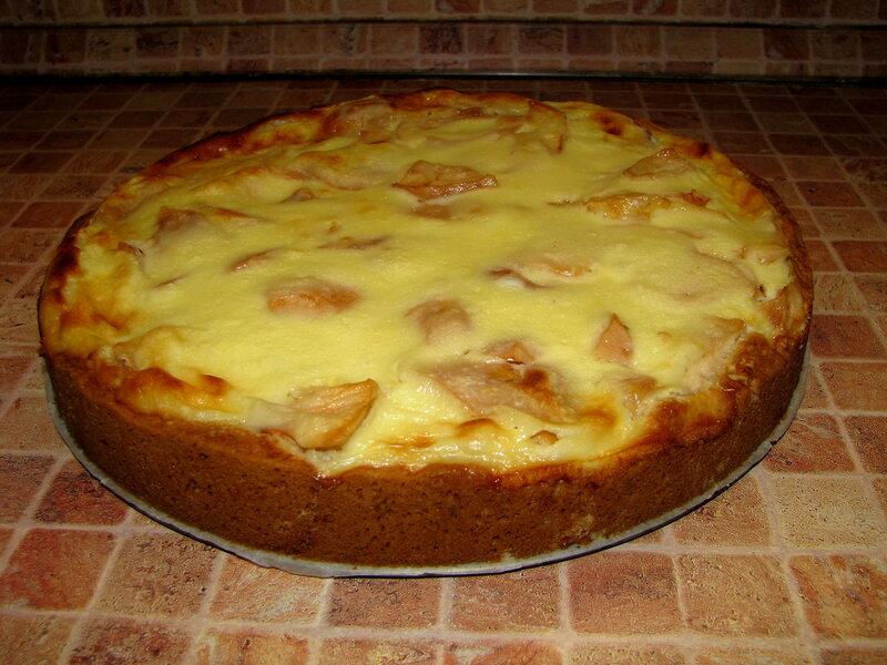 Яблочный пирог со сметанной заливкой, какой я люблю!)