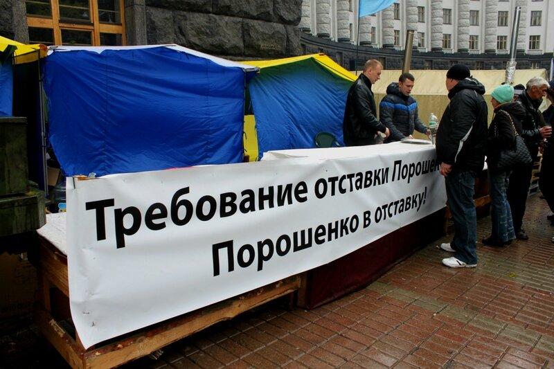 Требование отставки Порошенко