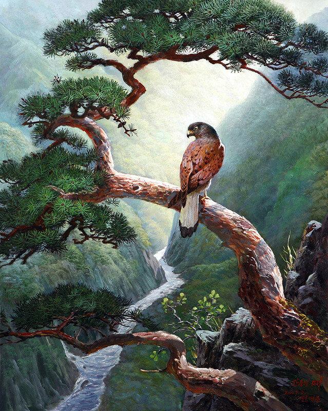 А над долиной кружит птица-сокол, И тут стоит божественный покой... Lee Yong Su