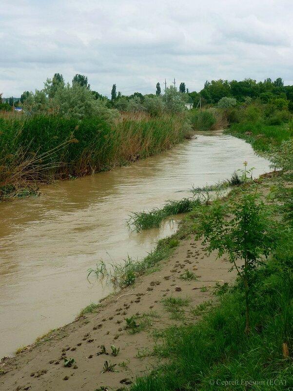 Речка Бельбек перед устьем