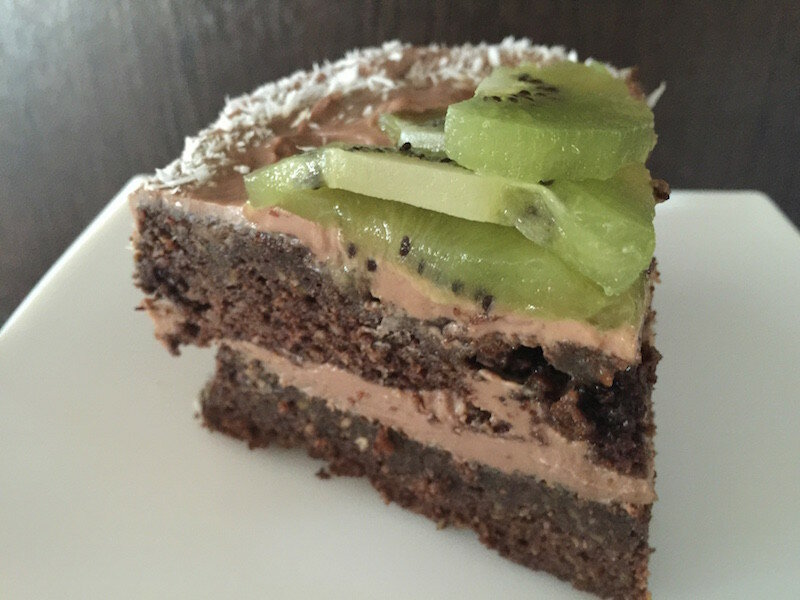 Торт с авокадо с кремом из шоколадной рикотты