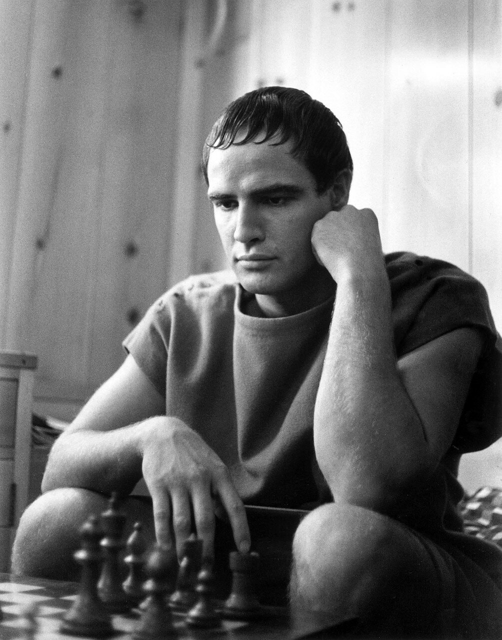1950. Марлон Брандо на съемках «Юлия Цезаря»
