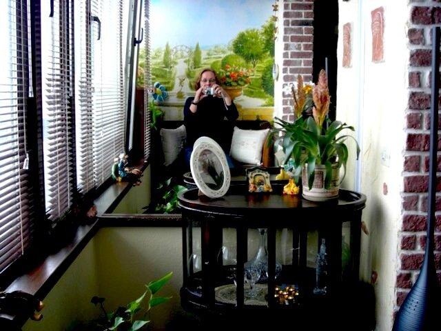 автопортрет на террасе