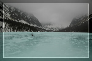 Долина Актру во льду
