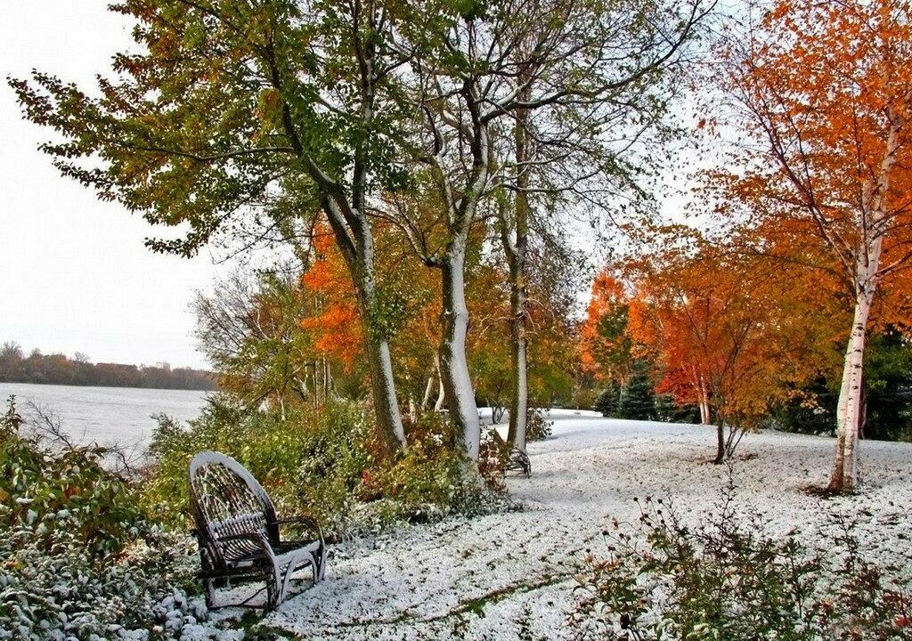 Картинки поздняя осень на даче ротанга современном