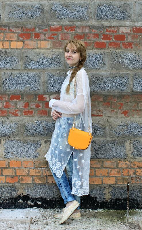 Платье-рубашка - Zara, сумка - H&M