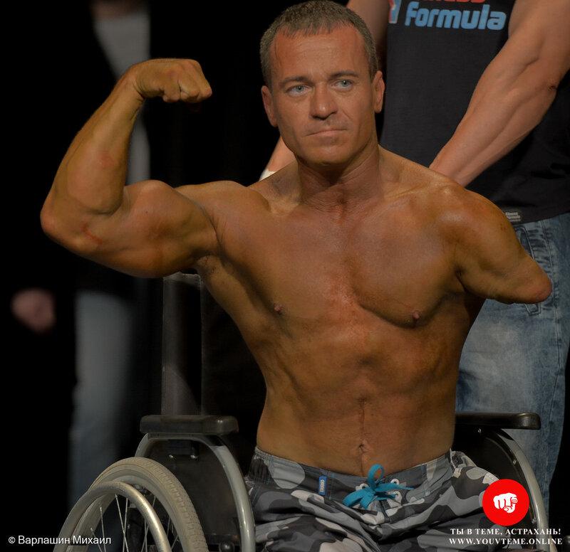 Инвалид войны из Астрахани Руслан Кириллов (Показательный номер на чемпионате России по бодибилдингу)