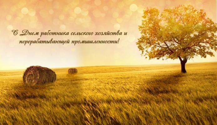 С Днем работников сельского хозяйства. Поздравляем!