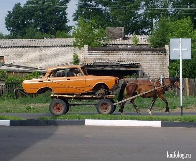 Немного забавных фото на автомобильную тематику