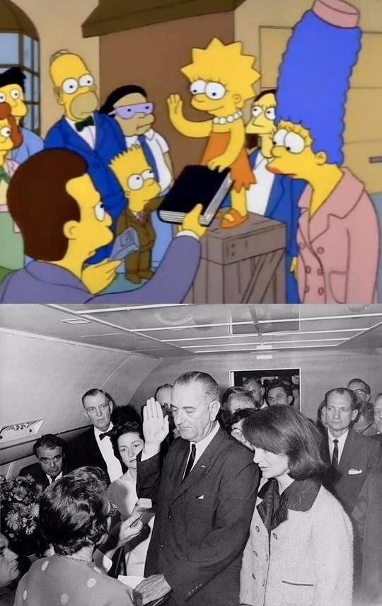 22 ноября 1963 года — день смерти Кеннеди и начало правления Линдона Джонсона. На фото — момент, ког