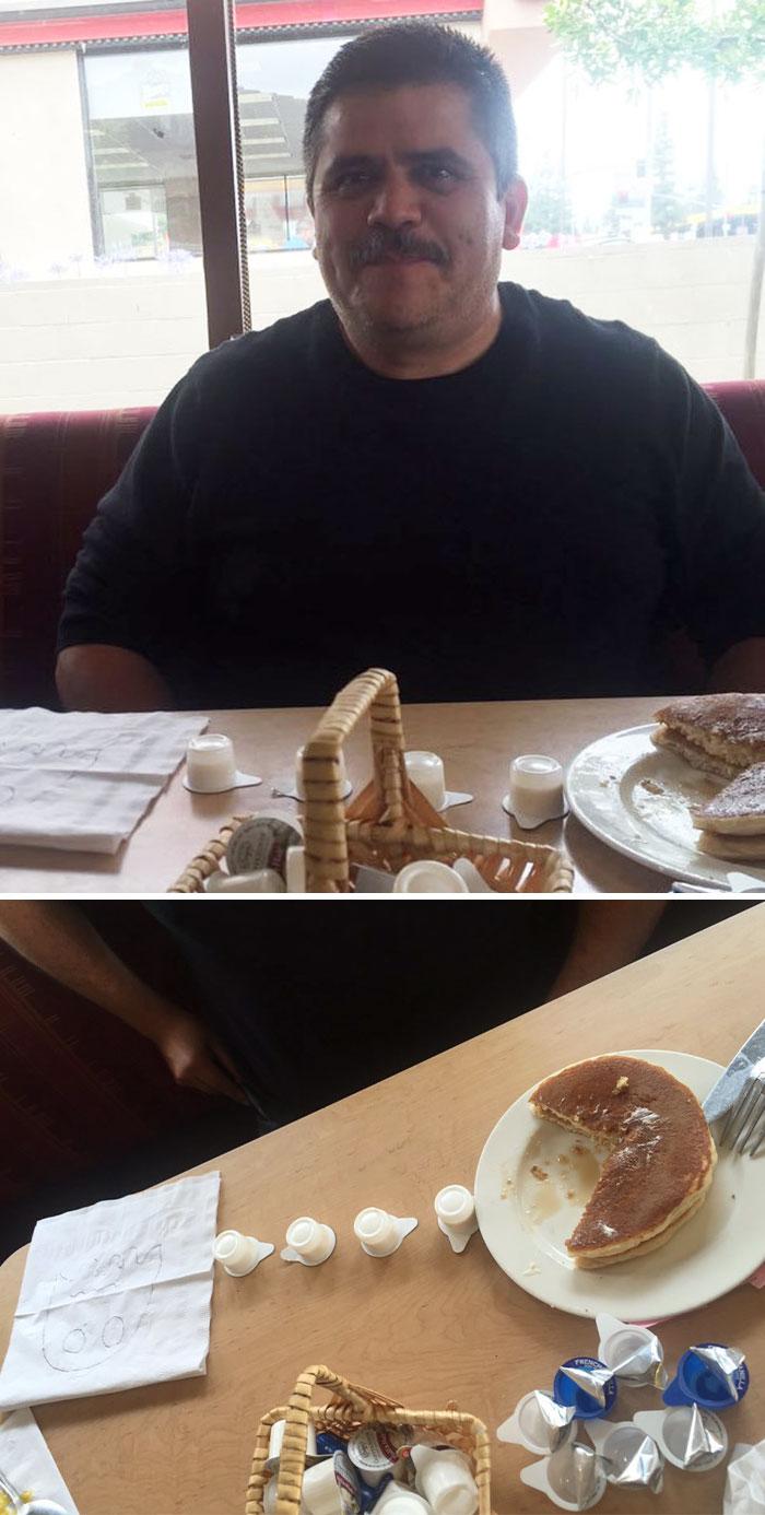 Отец смотрел на меня так минут пять, пока я не опустил взгляд на тарелку…