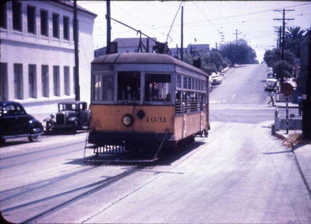 Трамвай в Лос-Анджелесе, 1946 год.