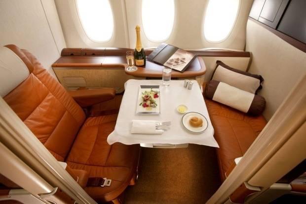 Вот так выглядит первый класс авиакомпании Singapore Airlines.